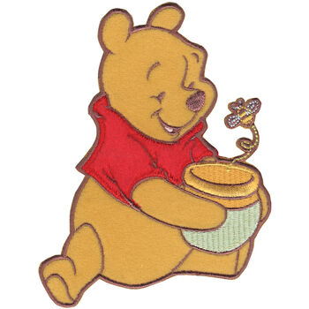 Wrights Disney Winnie The Pooh Iron-On Applique Pooh Honey Pot & Bee