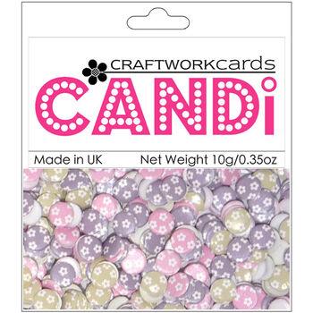 Craftwork Cards Candi Dot Printed Embellishments Juliette