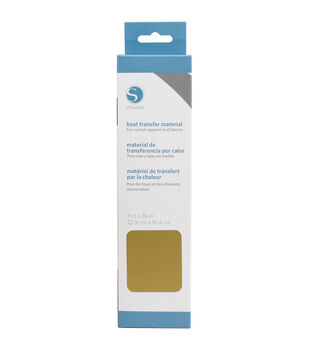 """Silhouette Smooth Heat Transfer Material 9""""X36""""-Gold"""