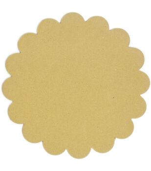 Adorn-It Art Play Round Scallop MDF Shaped Surface 8''