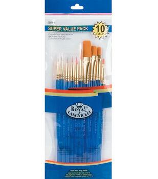 Brush Set Super Value Pack Gold Taklon 10/Pkg