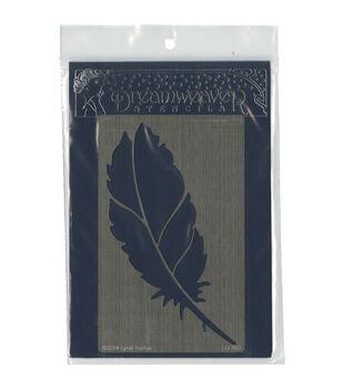 Stampendous Dreamweaver Metal Feather Stencil