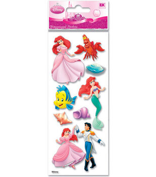 A Touch Of Jolee's Disney Dimensional Stickers-Little Mermaid