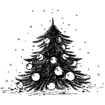 IndigoBlu Cling Mounted Stamp Ickle Christmas Tree - Dinkie