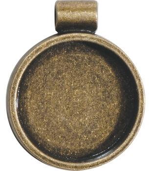 Lisa Pavelka Bezel 1/Pkg-Antique Gold Round