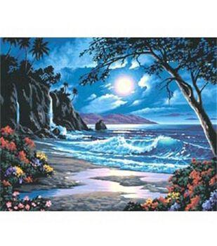 Paint By Number Kit 20''X16''-Moonlit Paradise