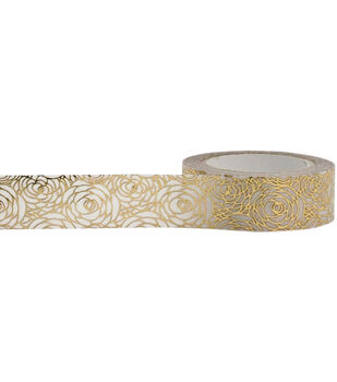Little B Foil Tape 15mmX10m-Gold Rose
