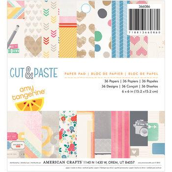 American Crafts Amy Tangerine Cut & Paste Paper Pad 6''X6''