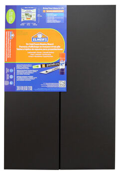 Elmer's Tri-Fold Display Board 36x48 - Black 1 Ply