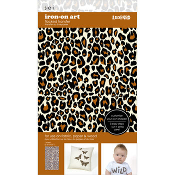 Sei Iron-on Sheet Leopard Tan/Black