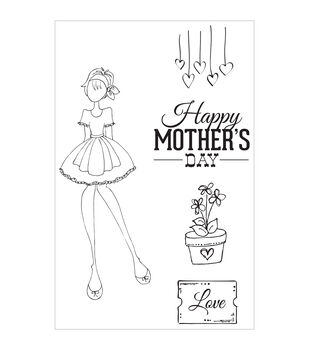 Prima Marketing Julie Nutting Mama's Day Cling Rubber Stamps