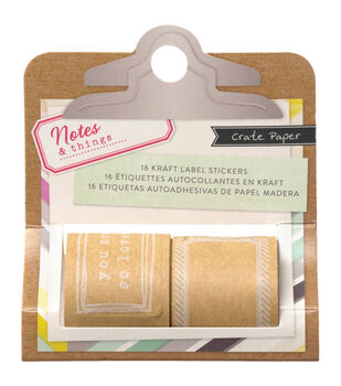 Notes & Things Kraft Label Stickers 16/Pkg-