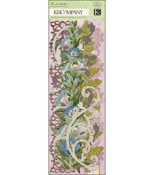 K & Company Swirl Adhesive Borders Flora & Fauna