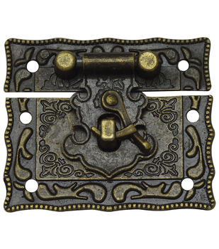 Brass embellishments 4/Pkg-Fancy Catch