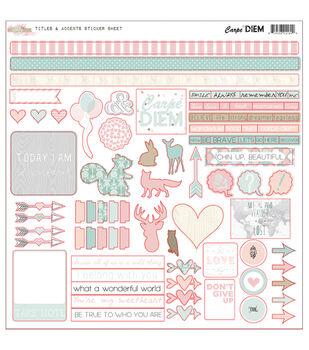 Glitz Design Carpe Diem Titles & Accents Cardstock Stickers