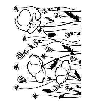 Darice Poppy Field Embossing Folder