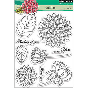 Penny Black Clear Stamps Sheet Dahlias