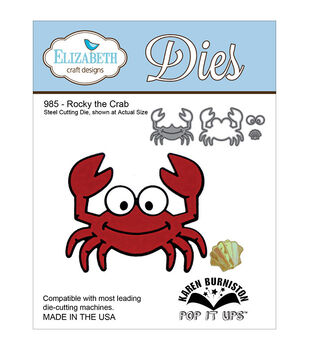 Elizabeth Craft Designs Pop It Up Rocky The Crab Metal Dies