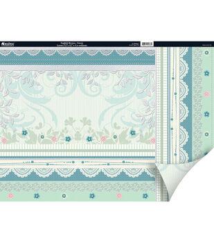 """Kanban Crafts English Riviera 2-Sided Cardstock 12""""X12""""-Green"""
