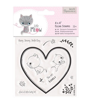Papermania Little Meow You Are Lovely Clear Stamps