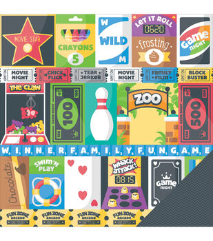 Imaginisce Family Fun Cut & Paste Double-Sided Cardstock
