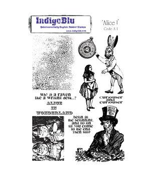 IndigoBlu Cling Mounted Stamp Alice I