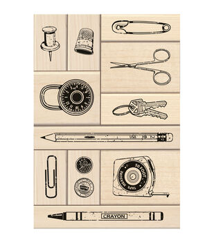 Inkadinkado Junk Drawer Mounted Stamp Set