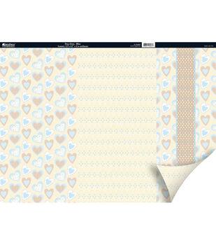 Kanban Patchwork 2Sided Cardstock 12X12-Dots Blue/Beige/Brown