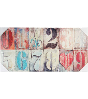 """Canvas Color Print 11.75""""X23.5""""-Country Numbers"""