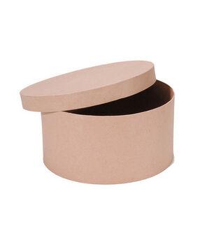 Darice 12'' Paper Mache Hat Box