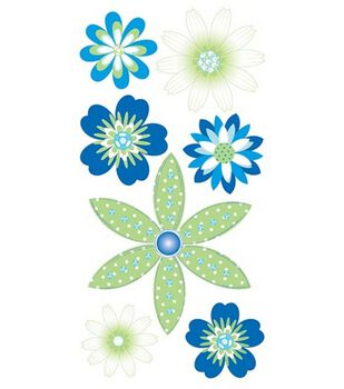 Dimensional Stickers-Sea Breeze Flowers