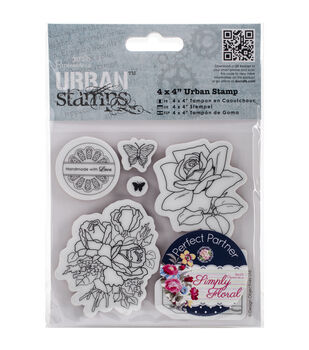 Papermania Simply Floral Birthday Rose Urban Stamps