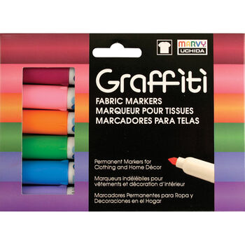 Graffiti Fabric Marker 6/Pkg Floral