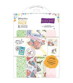 Roald Dahl A4 Decoupage Paper Pack 8/Pkg-The Big Friendly Giant & Friends