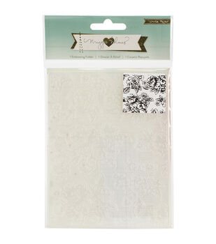 Crate Paper Maggie Holmes Open Book Floral Embossing Folder