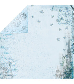 """Marie Antoinette Double-Sided Paper 12""""X12""""-Blue Cathedral"""