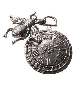 FabScraps Silver Fly Clock Embellishments