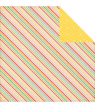 """Summer Stripes - Summer Bliss Double-sided Cardstock 12""""x12"""""""
