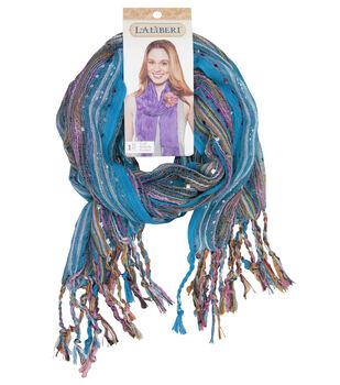 Laliberi Blue Sparkle Stripe Scarf