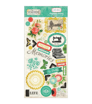 "Yesterday Chipboard Accents 6""X13""-"