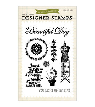 "Carta Bella Stamps 4""X6""-Yesterday"