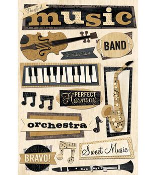 Karen Foster Cardstock Stickers-Gift of Music