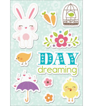 "Hippity Hop Canvas Stickers 4.75""X7""-Day Dreaming"