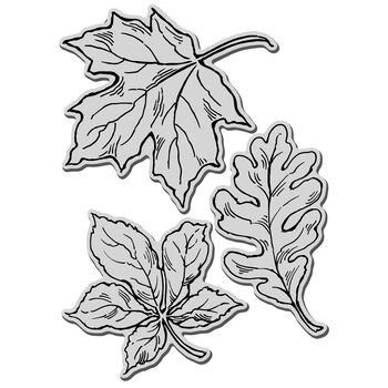 Stampendous Jumbo Cling Rubber Stamp Leaves