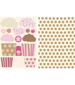 Kanban Die-Cut Punch-Out Card 2-Sheet-Fairy Cakes Raspberry Icing