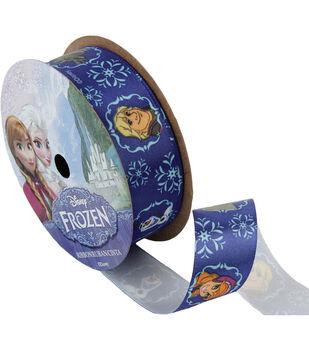 "Frozen Ribbon 7/8""x9'-Royal Characters"