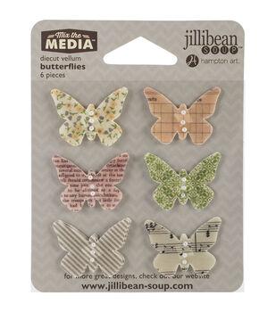 Jillibean Soup Mix The Media Butterflies Vellum Die-Cuts
