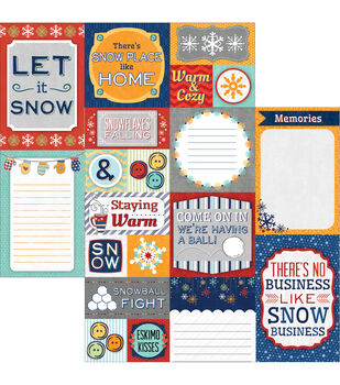 "Snow Days Double-Sided Cut Apart Cardstock 12""X12""-"