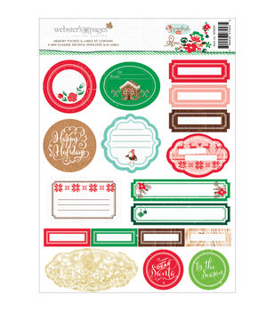 Webster's Pages Gingerbread Village Memory Pockets & Labels