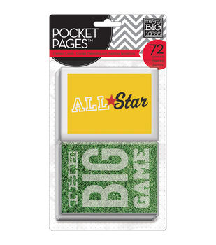"""Me & My Big Ideas Pocket Pages Themed Cards 3""""X4"""" 72/Pkg-Sports"""